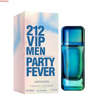 ادو تویلت کارولینا هررا 212 VIP Men Party Fever حجم 100 میلی لیتر