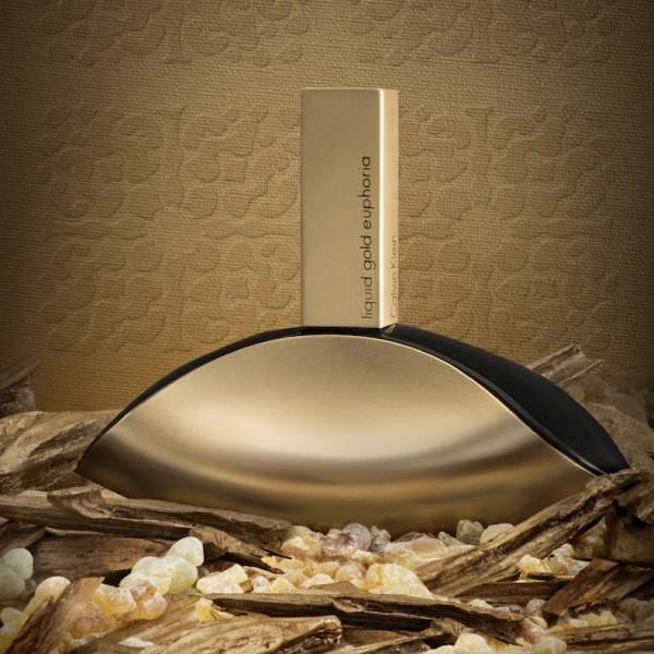 عطر زنانه کلوین کلاین مدل Liquid Gold Euphoria Eau De Parfum