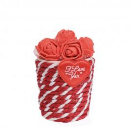گلدان قلب قرمز