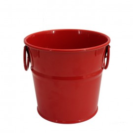 سطل فلزی دسته دار رنگی کوچک