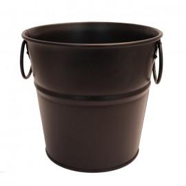 سطل فلزی دسته دار رنگی سایز1