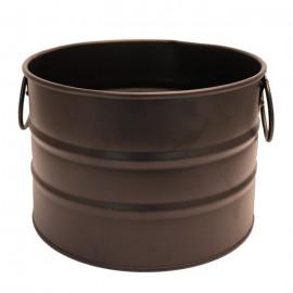 سطل فلزی دسته دار رنگی سایز 3